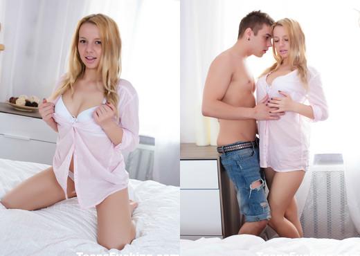 Young blonde Angel is back for some anal sex - Teens Fucking - Anal Sexy Photo Gallery