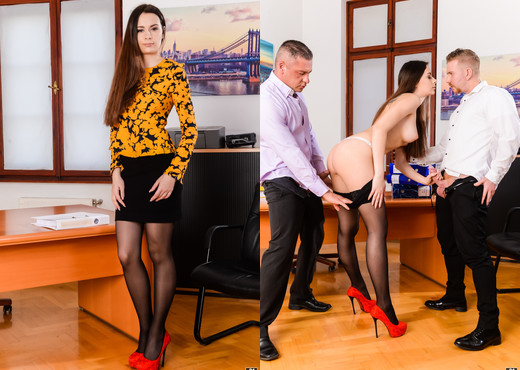 Victoria J - Multitasking Secretary - 21Sextury - Hardcore HD Gallery