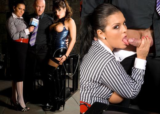 Jasmine Black and Valery Summer sharing a big dick threesome - Hardcore Porn Gallery