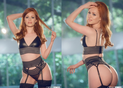 British Babe Ella Hughes in Stockings - Cherry Pimps - Solo Porn Gallery
