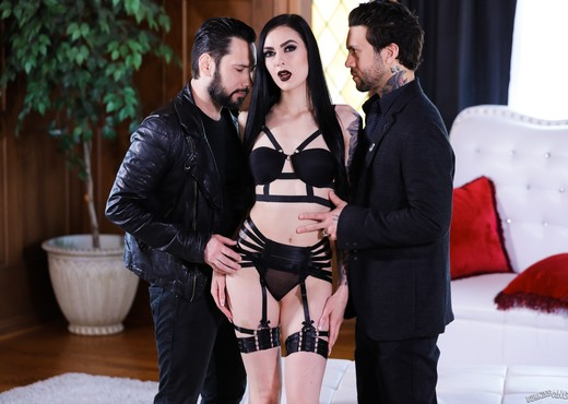 Goth Anal Whores 2 - Marley Brinx Gets DP'd - Burning Angel - Hardcore Sexy Gallery