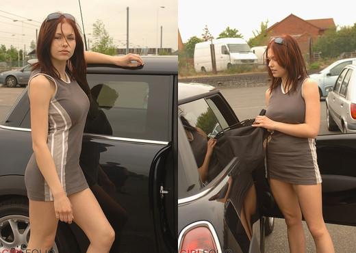 Iga - In A Mini Dress In A Mini - Girlfolio - Solo Sexy Photo Gallery