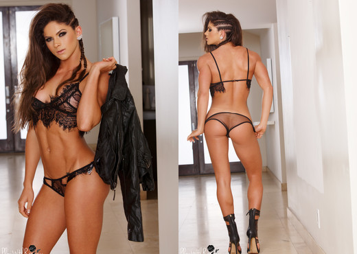 Aspen Rae - Leather and Lace - Solo Porn Gallery