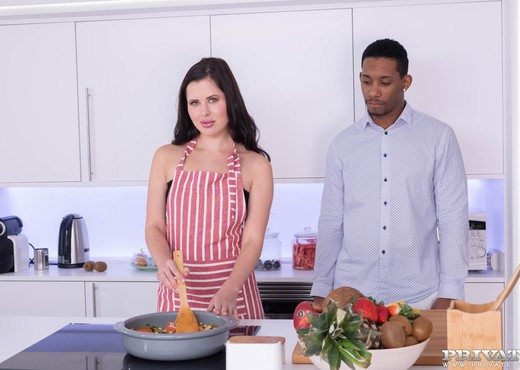 Cassie Fire, wears lingerie for an interracial anal - Interracial HD Gallery