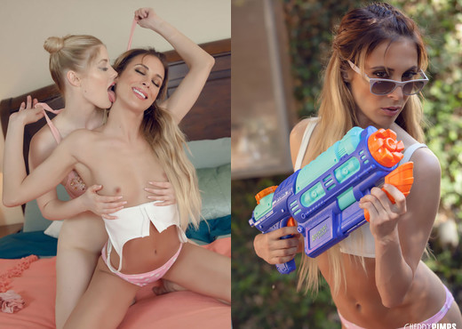 Charlotte Stokely and Aiden Ashley Get Wet - Cherry Pimps - Lesbian Hot Gallery