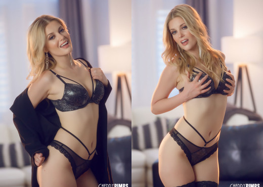 Charlotte Stokely Seduces In Black Lingerie - Cherry Pimps - Solo Sexy Gallery