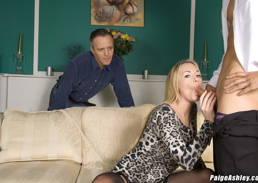 Paige Ashley fucks a new man while her husband watches - MILF Image Gallery