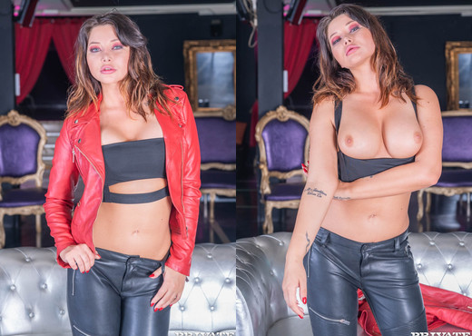 Biker chick Anna Polina enjoys threesome & DP - Private - Hardcore Sexy Gallery