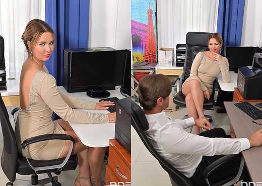 Nikky Dream - Cock Sucking At Work - Hardcore Nude Pics