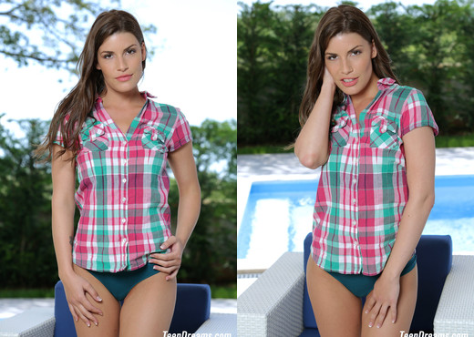 Teen Dreams - Jenny Appach in sexy plaid shirt and panties - Teen TGP