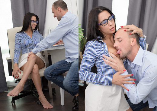 Bored secretary takes cock in all her holes - Anal Image Gallery