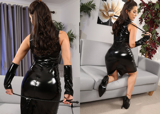 Emily J Pvc Dress - Strictly Glamour - Solo HD Gallery