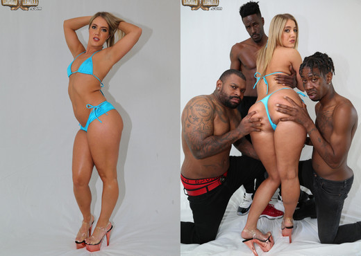 Candice Dare - Blacks On Blondes - Interracial Picture Gallery