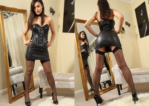 Maria Smith Leather Mini - Strictly Glamour - Solo HD Gallery