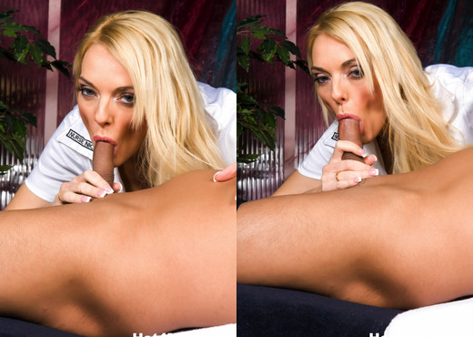 Busty blonde nurse takes great care of a cock - Hot 4 MILF - MILF Picture Gallery