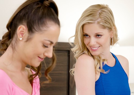 Charlotte Stokely, Lily Adams - A Bet Between Friends - Lesbian Picture Gallery