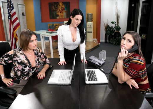 Phone Service Skills - Girlsway - Lesbian Picture Gallery
