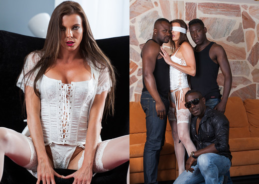 Swiss Politician's Wife Caroline Tosca's Gets a Gangbang - Interracial TGP