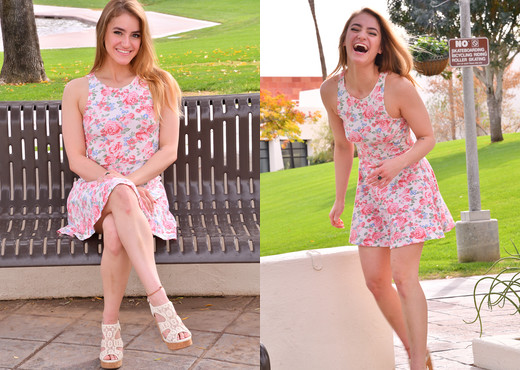 Kenzie - Pretty Pink Dress - FTV Girls - Solo Picture Gallery