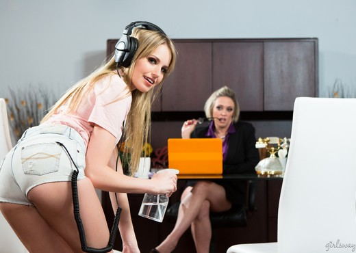 Maid For Each Other: Office Cleaning - Girlsway - Lesbian Picture Gallery