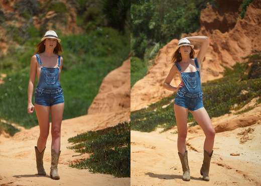Elen Moore - Red Rocks And Dungarees - Hayley's Secrets - Solo Sexy Photo Gallery