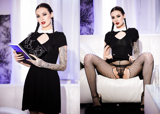 Very Adult Wednesday Addams - Marley Brinx - Burning Angel - Hardcore Nude Gallery