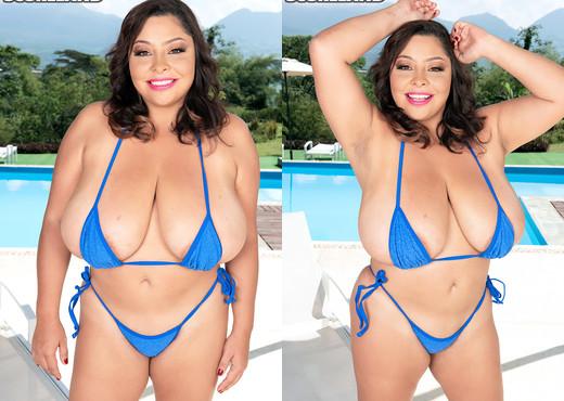 Freshly Oiled Bikini Girl Sofia Damon - ScoreLand - Boobs Nude Gallery
