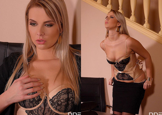 Bored & Horny: Hot Babe Seduces Boss & Client Into Threesome - Anal Image Gallery