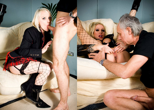 Paige Fox is not afraid of 2 hard dicks with Cindy Behr - Hardcore TGP