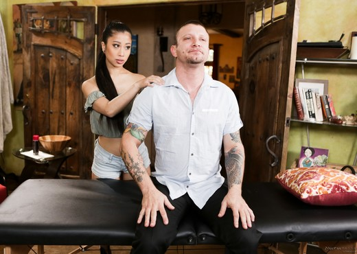 Jade Kush - Some Neighborly Guidance - Fantasy Massage - Hardcore Image Gallery