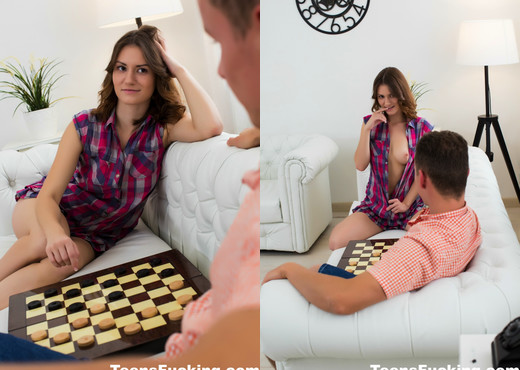 A game of checkers turns sexual for young Sofy - Teen Image Gallery