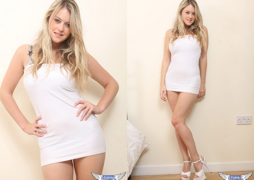 Brooke Little - White & Sheer - SpunkyAngels - Solo Sexy Photo Gallery