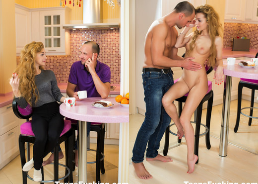 Blonde cutie Sonia takes a cock in the kitchen - Teen Sexy Gallery