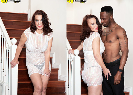 Cora Comfort - This time, Cora gets a big, black cock! - Interracial HD Gallery