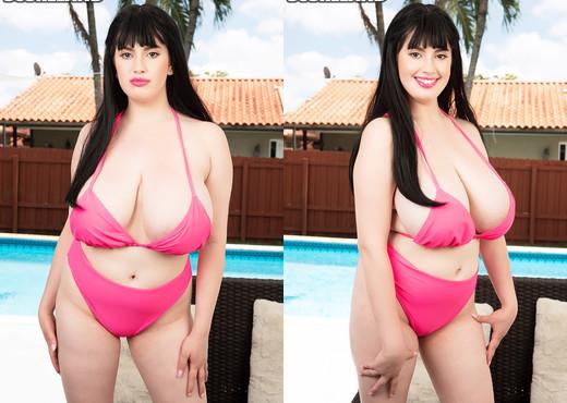 Dina Sahari Rocks Her Busty Bikini Body - ScoreLand - Boobs Hot Gallery