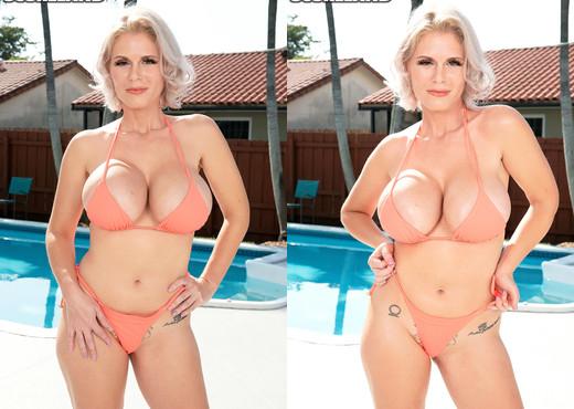 Casca Akashova: Bikini & Oil At Poolside - ScoreLand - Boobs Image Gallery