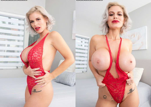 Casca Akashova: Seductress In Red - ScoreLand - Boobs Sexy Gallery