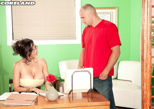 Claudia KeAloha - Office Bust-Out - ScoreLand - Boobs Image Gallery