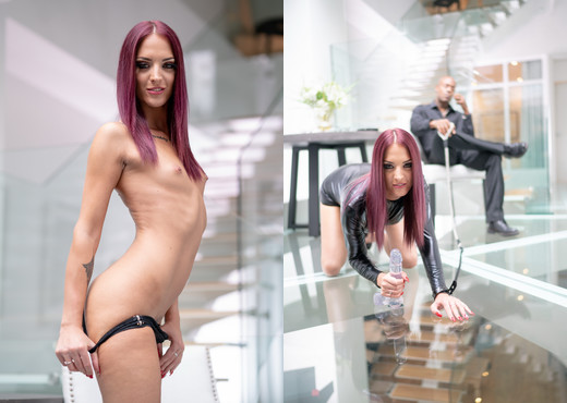 Simply Anal - Purple haired Lien enjoys ass to mouth action - Anal TGP
