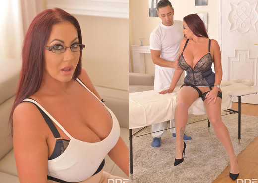 A Happy Ending Office Massage: Busty Babe Fucked Hard - Boobs Sexy Photo Gallery
