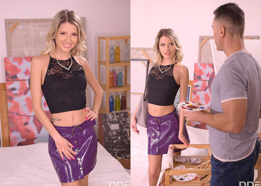 Rebecca Volpetti - Blonde Babe Properly Fucked By Painter - Hardcore Porn Gallery