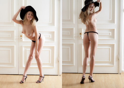 """DenudeArt - Trinity in """"Black Hat"""" - Solo Nude Pics"""