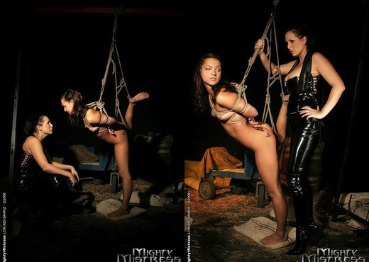 Sabrina Sweet & Mandy Bright Lesbian Slave - Mighty Mistress - BDSM Nude Gallery