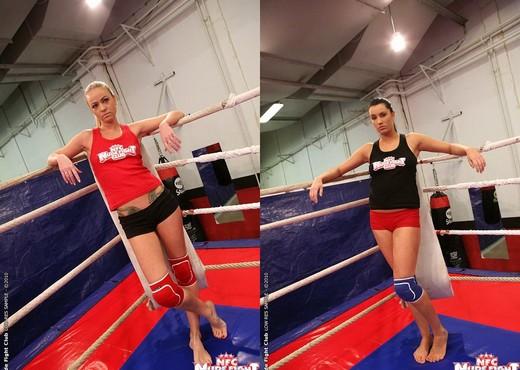 Dorina Gold & Melissa Ria - Girl on Girl - Nude Fight Club - Lesbian Hot Gallery