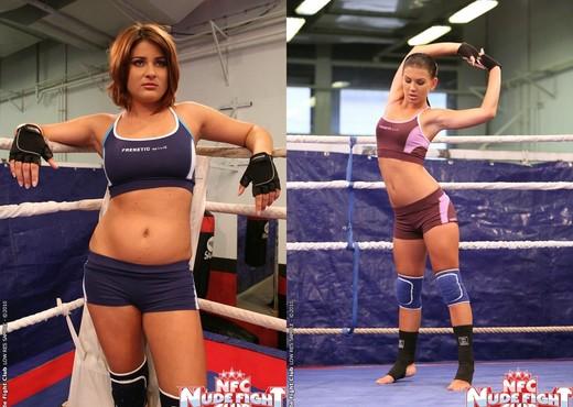 Bellina & Rihanna Samuel - Wrestling Girls - Nude Fight Club - Lesbian Sexy Gallery