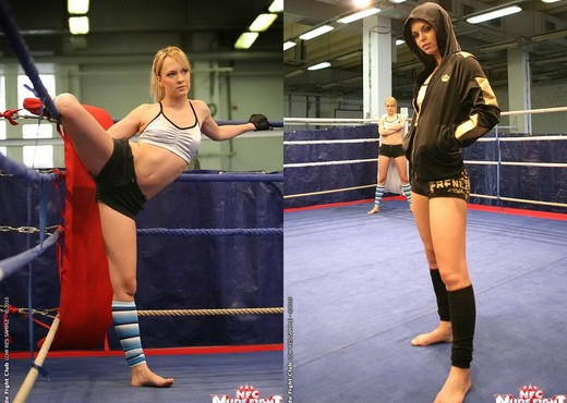 Blue Angel & Sabrinka - Lesbian Wrestling - Nude Fight Club - Lesbian Nude Pics