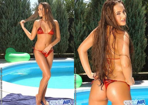 Francesca Love Toying Outdoors - Open Air Pleasures - Toys Image Gallery