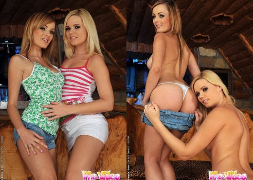 Lesbian Action with Cherie & Bianca Golden - Lesbian HD Gallery