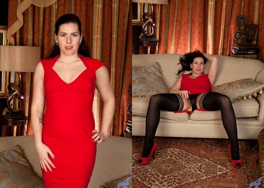 Sharlyn - Lady In Red - Anilos - MILF Hot Gallery