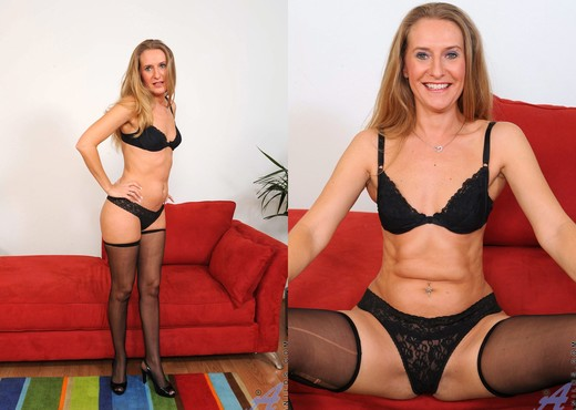 Sara James - Red Couch - Anilos - MILF Image Gallery